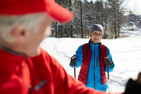 Skiing with husband